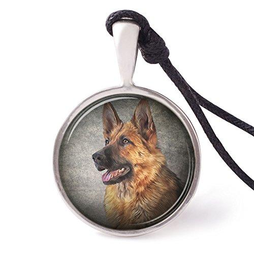 German Shepherd Dog Necklace - Vietguild's German Shepherd Dog Necklace Pendants Pewter Silver Jewelry