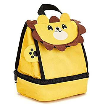 c3a764a054c2 Childrens Lion Insulated Lunch Bags - Available in Lots of Cute Animals -  for Ages 3-7 - Animal Lunch Bags by Zappi Co (Lion)