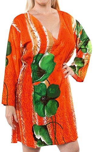 1 tutto beachwear scollo kimono abbigliamento tunica profondo da top Leela ricamato costume pi La elastico in bagno casual rayon salone collo signore XWU0R
