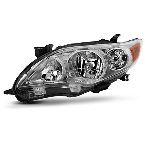 For 2011-2013 Toyota Corolla Driver Left Side Headlight Head Lamp Direct Replacement ()
