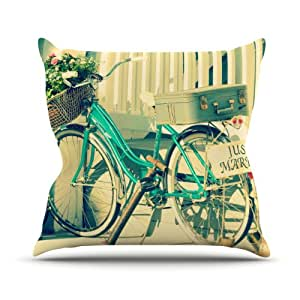 """Kess InHouse Robin Dickinson """"Just Married"""" Outdoor Throw Pillow, 26 by 26-Inch"""