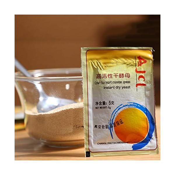 yuanmaoao, Lievito secco attivo, alta tolleranza del glucosio, per la produzione di pane, 10 x 5 g 2 spesavip