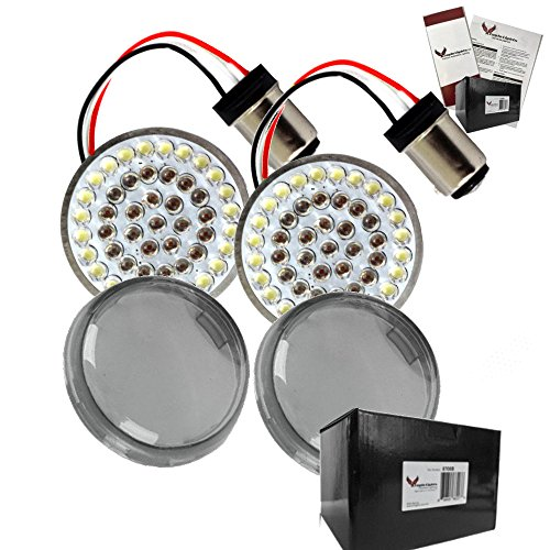 - Eagle Lights Rear LED Turn Signals For Harley Davidson (Rear (1157) Turn Signals, Add Smoked Lenses)