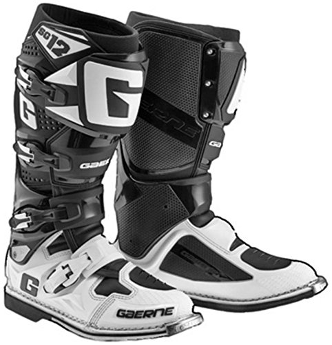 Gaerne 2174-014-11 SG-12 Boots, Distinct Name: Black/White, Primary Color: Black, Size: 11, Gender: Mens/Unisex B077B8WNTR 11 USA|White/Black