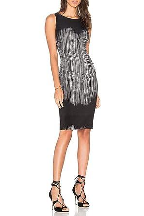 81aef2e180 Norma Kamali - Sleeveless Shirred Waist Dress - Fringe - XS at Amazon  Women s Clothing store