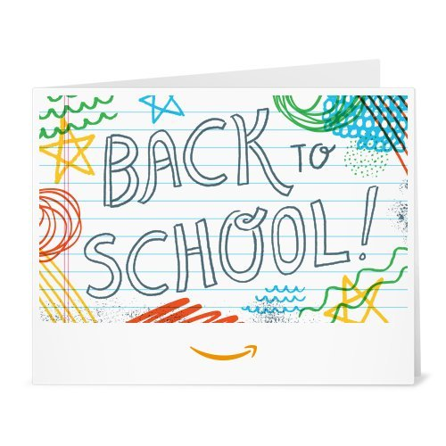 (Amazon Gift Card - Print - Back to School (Doodles))