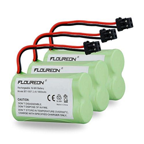 FLOUREON 3Packs 2.4V 1800mah Cordless Phone Batteries for
