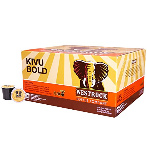 Westrock Coffee Kivu Bold Gourmet Single Serve K Cups 80 Count