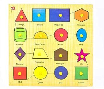 Toyvala Different Shapes & Color Kids Puzzle