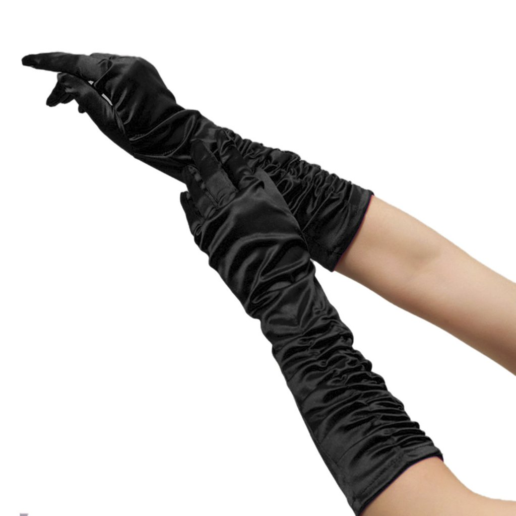 Wedding Bridal Elastic Satin Elbow Length Fashion Gloves Bride Ladies's Elegant Party Fancy Dress Gloves