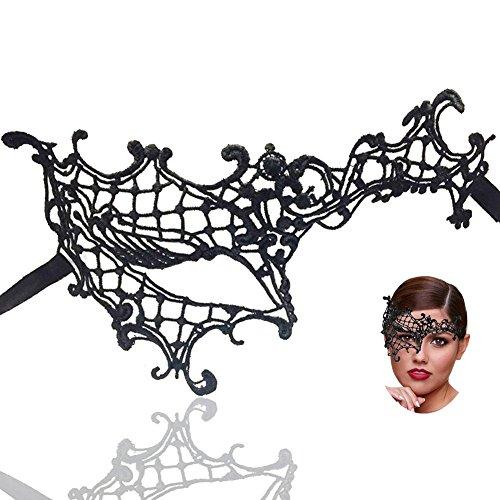 IDOXE Pretty Women Masks Masquerade Ball Phantom of The Opera Half Face Mask Female Vintage Design Costumes Party Accessory -