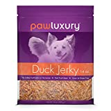 Pawluxury Duck Jerky by (14 oz.) 100% Natural Duck Dog Treats