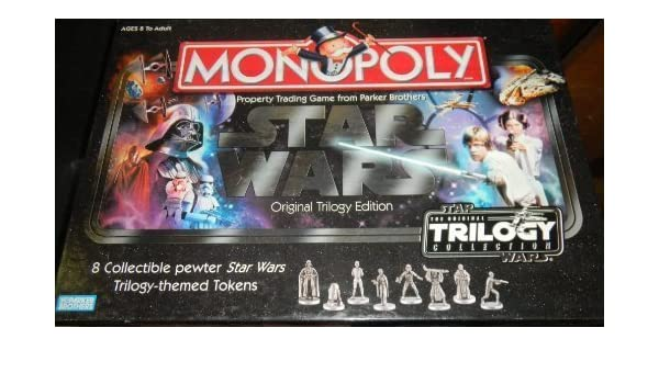 Monopoly: Star Wars Original Trilogy Edition with 8 Collectible Pewter Star Wars Trilogy Themed Tokens by Parker Brothers: Amazon.es: Juguetes y juegos