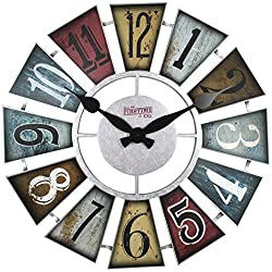FirsTime 99681 Numeral Windmill Wall Clock, Multicolor