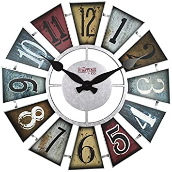 FirsTime Co. 99681 FirsTime Numeral Windmill Wall Clock, 24 , Multicolor