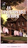 Front cover for the book An Unmentionable Murder by Kate Kingsbury