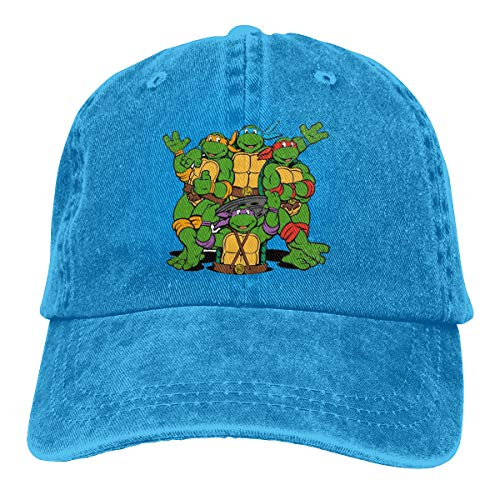 Shenigon Ninja Turtle Vintage Cowboy Baseball Caps Dad Hats Blue ()