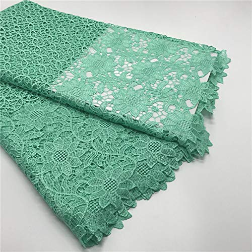 New Fashion African Cord Lace Fabric Guipure Lace (Teal) by Gary Lace