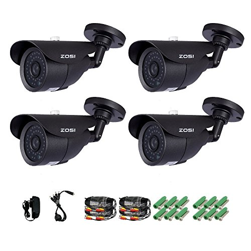 ZOSI 4 Pack 1000TVL 960H indoor outdoor Day Night Vision