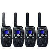 Retevis RT628 FRS Walkie Talkies 22CH 2 Way Radios VOX Long Range Walkie Talky(4 Pack,Black)
