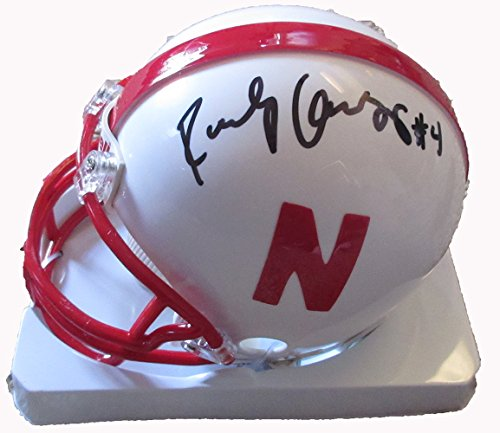 Randy Gregory Autographed Nebraska Cornhuskers Mini Helmet W/PROOF, Picture of Randy Signing For Us, Nebraska Cornhuskers, 2015 NFL Draft, Top Prospect