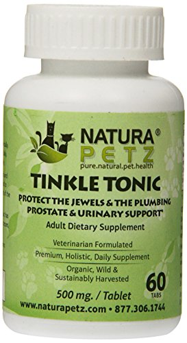 (Natura Petz Tinkle Tonic Prostate, Urinary, Benign Hyperplasia Prostate (BPH) and Prostatitis Support for Adult Pets, 60 Capsules, 500mg Per Capsule)