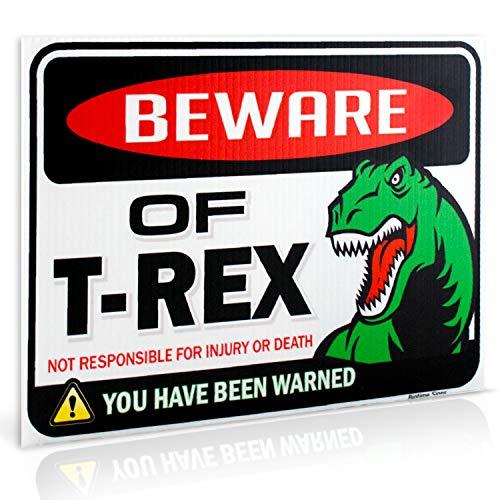 Dinosaur Sign: Beware of T Rex Warning Sign | 9
