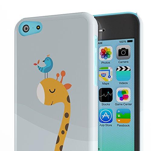 Koveru Back Cover Case for Apple iPhone 5C - A bird and Giraffe