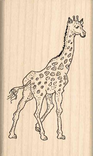Giraffe Rubber Stamp - 1-1/2 inches x 2-1/2 inches