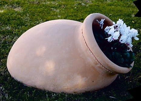 DEGARDEN Tinaja de decoración del jardín en Color y Acabados Terracota Barro cocido en Piedra Artificial (Hormigón) para Exterior | Maceta orza 70X37cm.: Amazon.es: Jardín