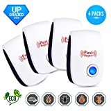 doopoo Ultrasonic Pest Repeller 4-Pack - Pest Control Effective Upgraded Frequency Electronic