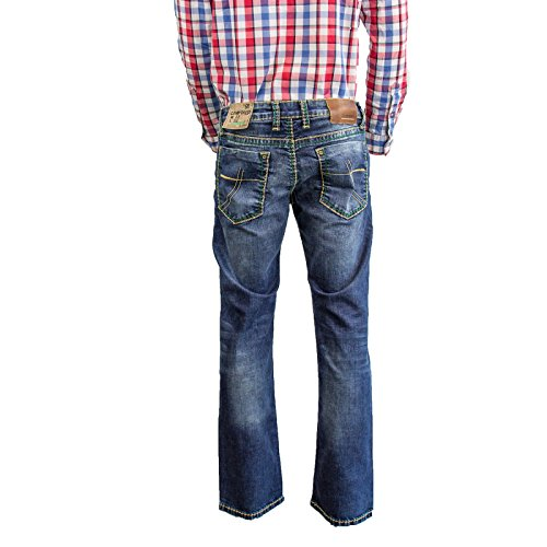 LOW David WAIST Cut COR611 NI Camp Azul Vaqueros Boot xzwqdFnfY