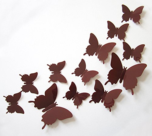 Cute Product 12Pcs 3d Butterfly Removable Wall Decals Diy Ho