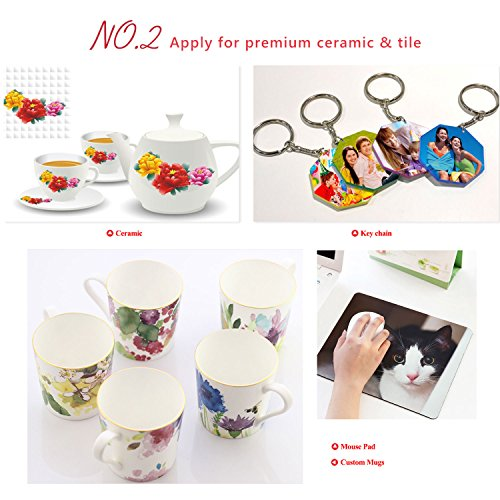 A-SUB Sublimation Paper Heat Transfer 110Sheets 13 x 19 Super Size Compatible with EPSON ME RICOH GX Series and SAWGRASS Etc Inkjet Printer 120gsm