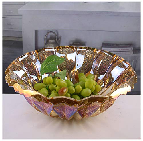 Fruit Bowls Fruit Storage 24% Lead Crystal Fusion 30cm Bowl Large Crystal Fruit Bowl/Salad Bowl/Centerpiece Fruit Plate -022 (color : - Lead Basket 24% Crystal
