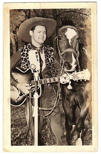 Jack Dalton Wbz Radio Cowboy Singer Real Photo Postcard Mailed 1941