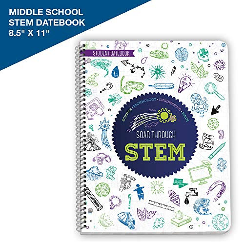 "2019-2020 Soar Through STEM - Academic STEM Educational Planner - 8.5"" x 11"" Large by School Datebooks"
