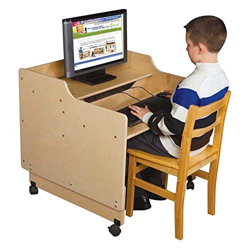 Wood Designs Contender 30 in. Mobile Computer Desk