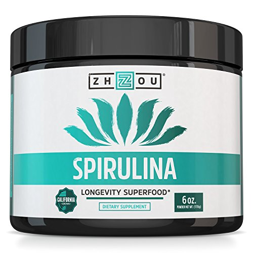 NonGMO Spirulina Powder  Sustainably Grown in California  Highest Quality Spirulina on Earth  100% Vegetarian Gluten Free amp NonIrradiated  Blue Green Algae Perfect for Smoothies Juices amp More