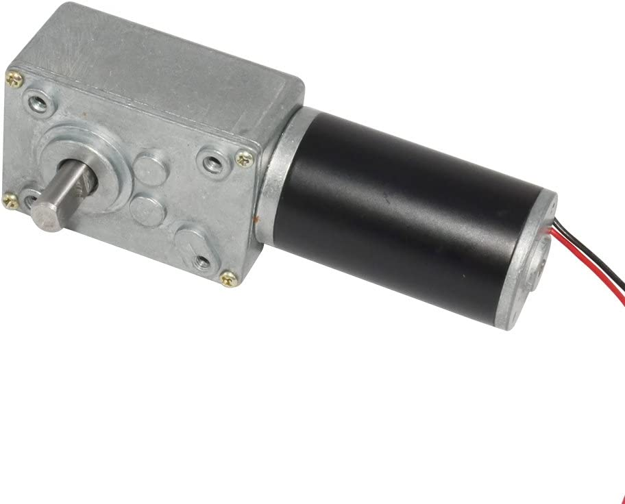 Mirco Dc Worm Geared Motor Shaft Output 8mm 24V 60 RPM for Diy Parts
