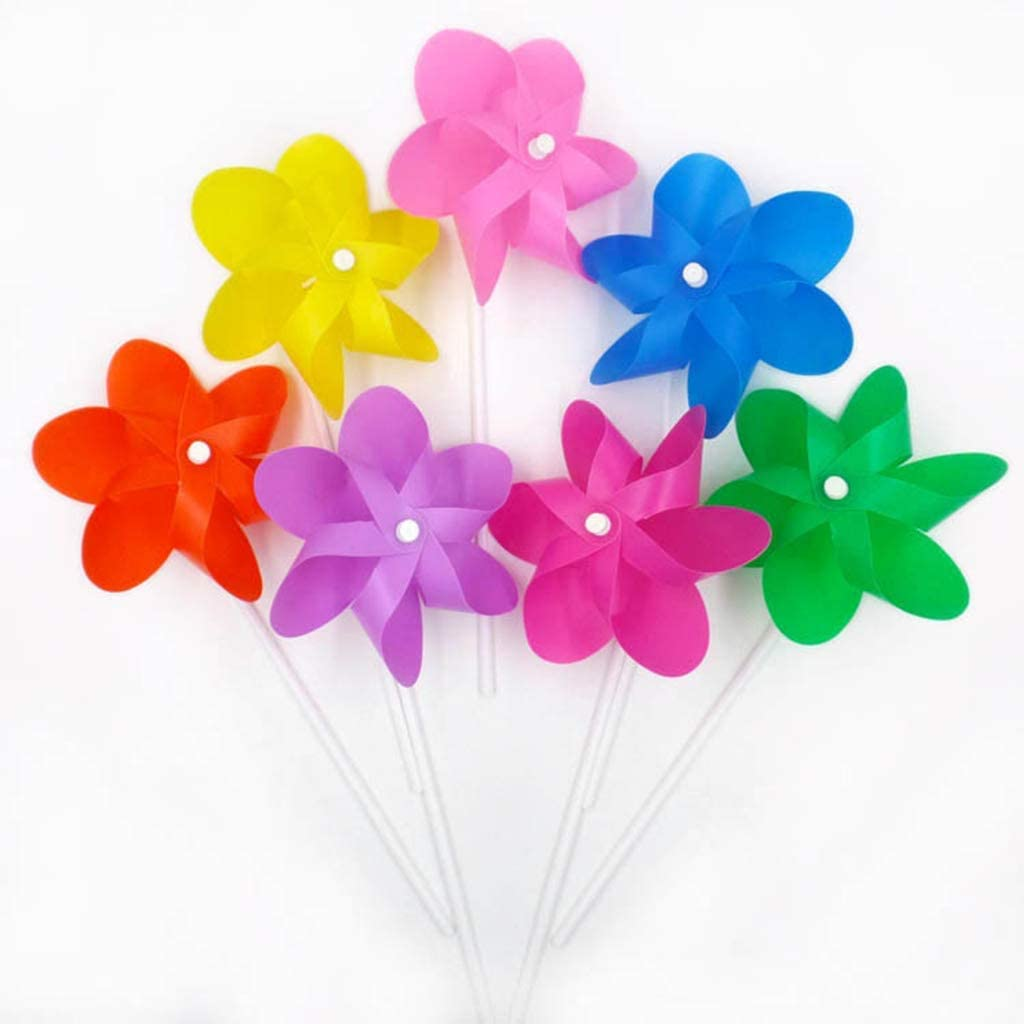 10 St/ück kleine Windm/ühle f/ür Garten Ornamente langlebig und n/ützlich Vektenxi /Sechs-Blatt Wind Spinner f/ür Kinder Spielzeug