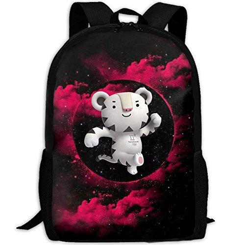 Winter Olympic Mascots (Soohorang Pyeongchang 2018 Winter Olympics Mascot Fashion Backpack College School Laptop Bag Daypack Travel Shoulder Bag For Unisex)
