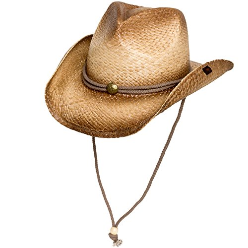 Peter Grimm Mens Straw Round Up Cowboy Hat, Ombre
