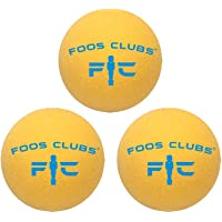 Foos Clubs Foosballs - Professional Tournament Quality - Great for Home Play, Rec Centers and Tournaments - Set of 3 Foosball Balls.