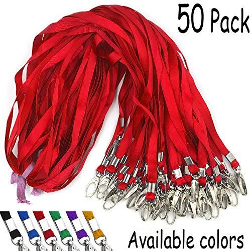 (Red Lanyards Beebel 50Pcs 18