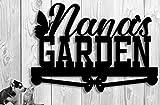 Custom Metal Garden Sign - Personalized - Nana's Garden Garden Sign Butterflies Gift Mom Grandma Grandpa's Name - Hand Made Customize it! 17 x12 Gift