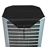 YELYEH AC Unit Cover - Conditioner Winter Waterproof Top Air Conditioner Leaf Guard Air Conditioner Cover (black, 36X36)