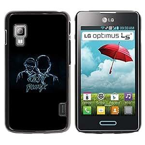Be Good Phone Accessory // Dura Cáscara cubierta Protectora Caso Carcasa Funda de Protección para LG Optimus L5 II Dual E455 E460 // Daft Band