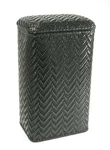 Wicker Pattern Hamper (Black) by WC Redmon