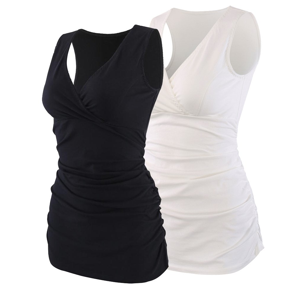 Topwhere SWIMWEAR レディース B07C1Y8ZSJ Small Black + White/2pack Black + White/2pack Small